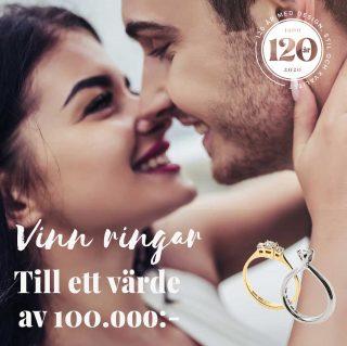 Diamantjakten är en tävling som Bröllopsmagasinet gör tillsammans med några av Sveriges skickligaste guldsmeder och vi är en av dem. För Dig innebär det att du har möjlighet att vinna en egendesignad vigselring.   När tävlingen är avslutad lottas tre stycken vinnare. En person vinner ett egendesignat smycke som är värt 50.000 kr och två personer vinner ett egendesignat smycke som är värt 25.000 kr.  Gå in på vår hemsida och läs mer om hur du tävlar. https://www.guldsmednilsson.se/diamantjakten/ #guldsmednilsson #guldsmedrolfnilssonseftr #diamantjakten